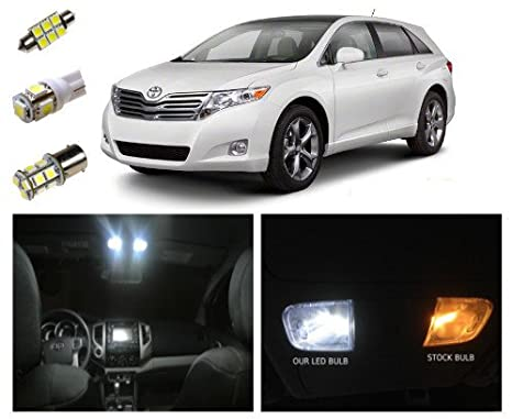 Toyota Venza LED Package Interior + Tag + Reverse Lights (12 Pieces)