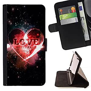 Momo Phone Case / Flip Funda de Cuero Case Cover - BIBLIA El amor nunca falla - Corintios 13: 8; - Samsung Galaxy S3 MINI 8190
