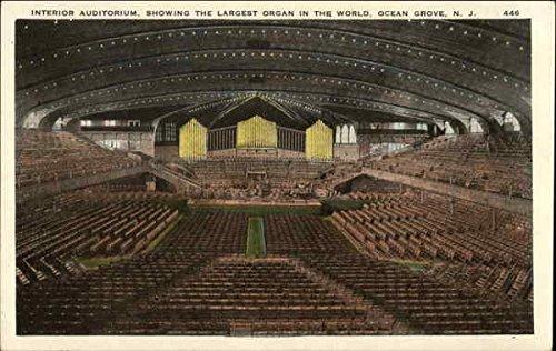 Interior Auditorium, showing Largest Organ in the World Ocean Grove, New Jersey Original Vintage Postcard (Best Auditoriums In The World)