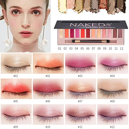 12 Color Eyeshadow , certainPL Cosmetic Makeup Shimmer Matte
