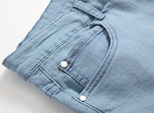 FREDD MARSHALL Men's Skinny Slim Fit Stretch Straight Leg Fashion Jeans Pants