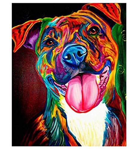 marcas de moda Tworidc5-40x50cm FramedUPUPUPUP Pintura Pintura Pintura al óleo Abstracta de DIY Dog by Numbers Animal Pictures Pintura de la Lona para la Sala de Estar Arte de la Parojo Decoración para el hogar, Tworidc5-50X70Cm Enmarcado  tiendas minoristas