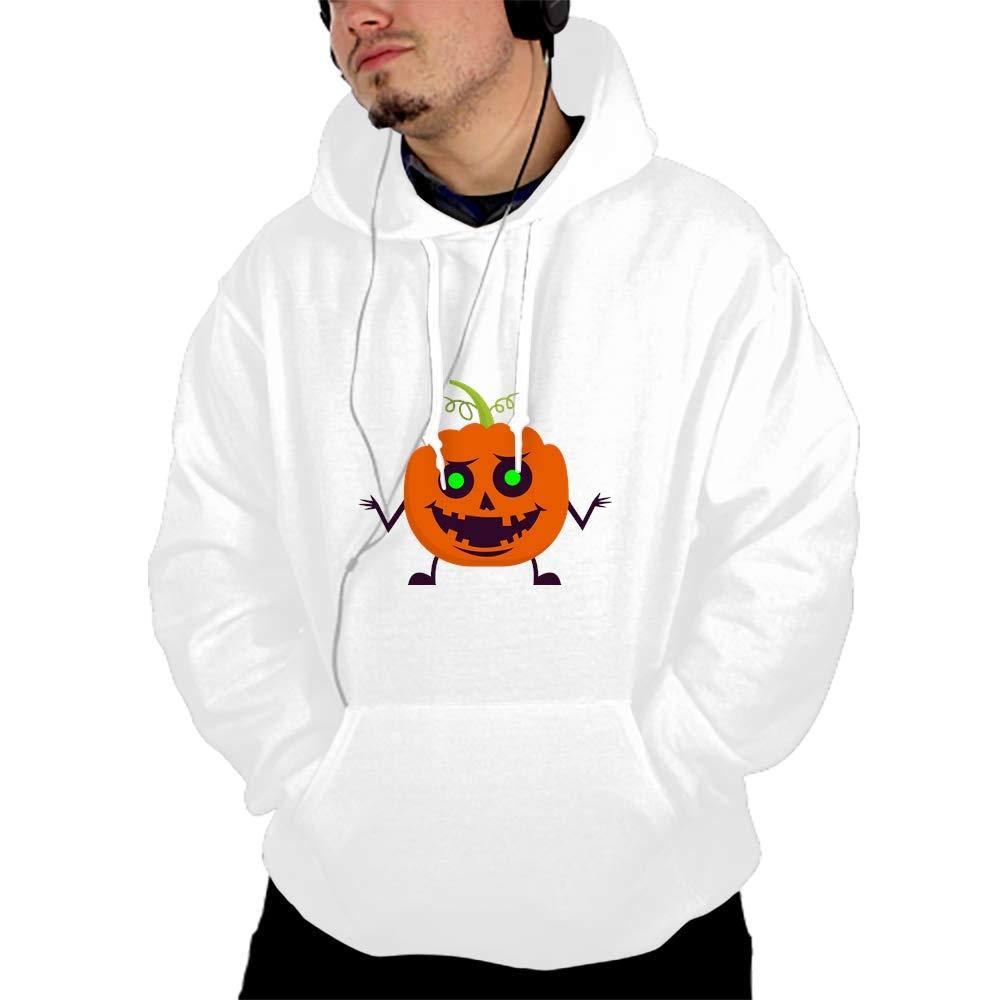 Mens Pumpkin Patterns Print Athletic Sweaters Fashion Hoodies Sweatshirts