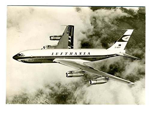 Lufthansa Boeing 720 B Official Real Photo Postcard German Airline D-ABOH