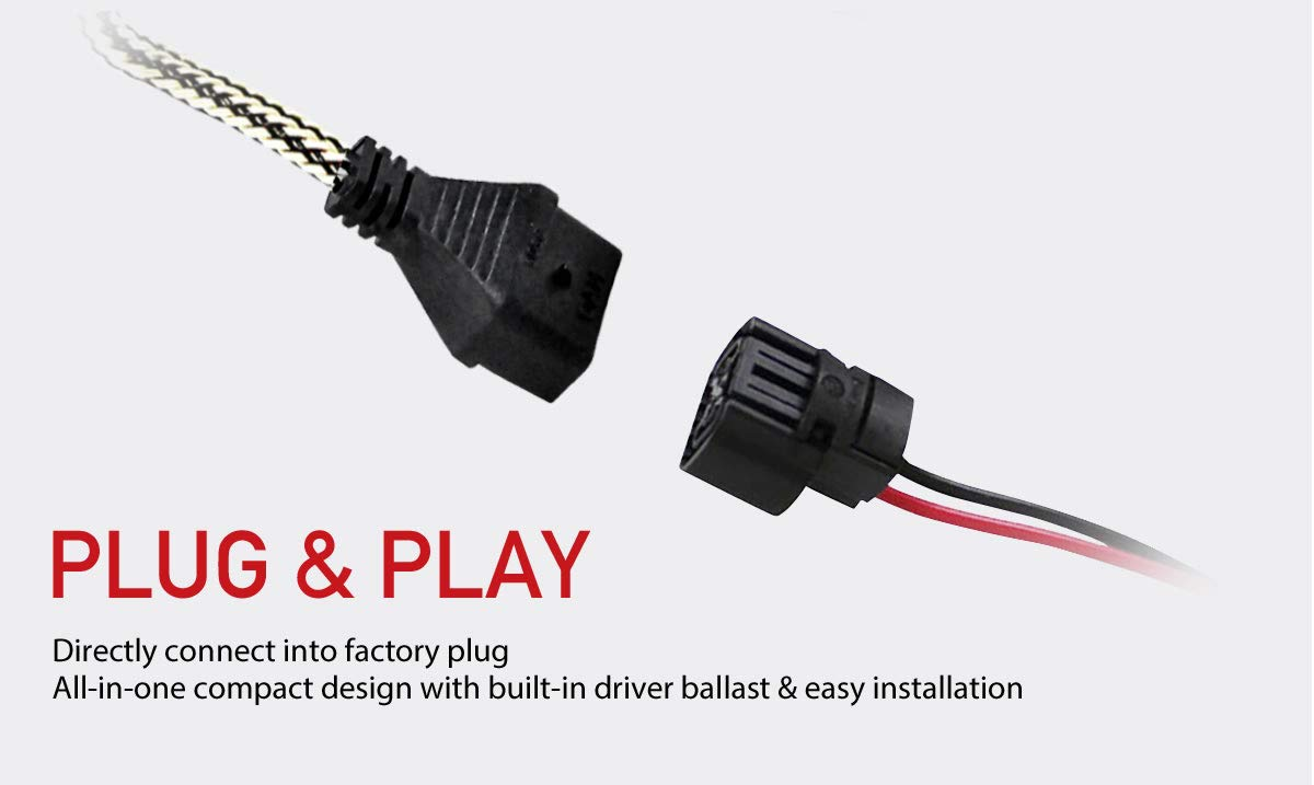 LASFIT 5202/5201/2504 LED Fog Light 60W 7600LM 6000K Cool White LED Bulbs-Plug&Play (2 pack) by LASFIT (Image #6)