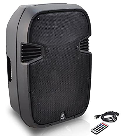 PylePro PPHP157AI 15'' 1400 Watt Powered 2-Way Full Range PA Loudspeaker System with Built-in 30-Pin iPod Dock, USB Flash, SD Memory Card Readers, LCD Display, Mic Input, Remote (Subwoofer And Amp 15)