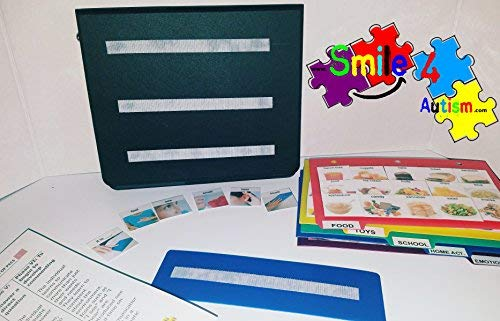 English Original Hand Made in USA PECS Autism Language Flash, Vocabulary, Picture, Cards, Easy To Use ABA Learning Speech Therapy Language Articulation For All Ages ASD ADD ADHD & Apraxia - PECS Book (Pictures Autism)