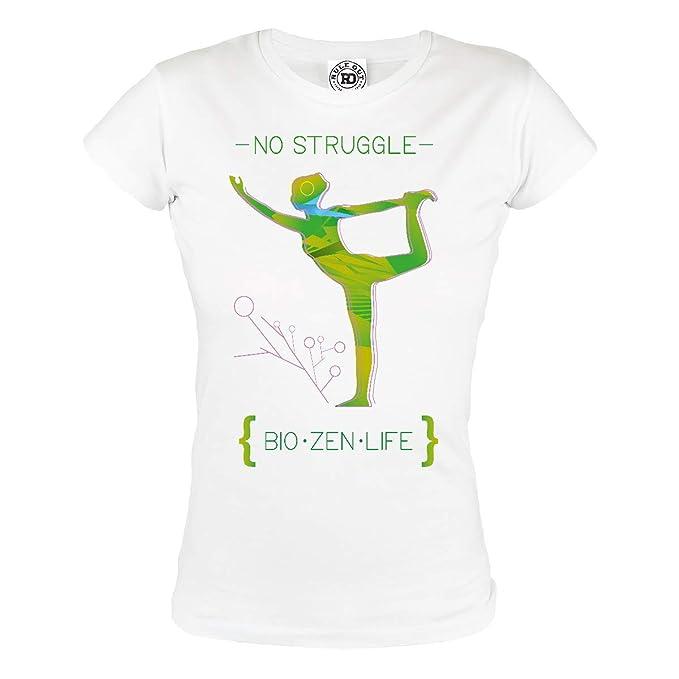 Rule Out Mujer Camiseta Yoga. NO Struggle. Bio. Zen. Life Gimnasio Entrenamiento Fitness. Sportswear. Informal: Amazon.es: Ropa y accesorios