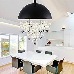 Pendant lights Single Head Crystal Chandelier, Dining Room Living Room Bedroom Chandelier (Color : B, Size : 3540cm)