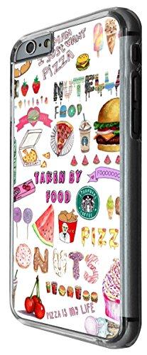 943 - Cool cute fun doodle school sketch illustration food trend donut unicorn junk food burger ice cream Design For iphone 6 Plus / iphone 6 Plus S 5.5'' Fashion Trend CASE Back COVER Plastic&Thin Me