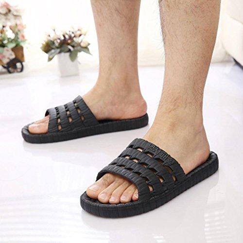 BZLine Männer Mode Sommer Casual Sandalen Outdoor Hausschuhe Schwarz