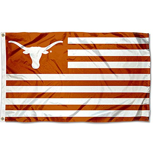 College Flags and Banners Co. Texas Longhorns Stars and Stripes Nation Flag