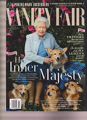 VANITY FAIR MAGAZINE SUMMER 2016, HER INNER MAJESTY QUEEN ELIZABETH II NO LABEL.