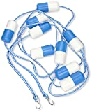 Swimming Pool Safety Rope- 16' with Stainless Hook Pre-assembled Safety Rope & Float, 16' Pool Size