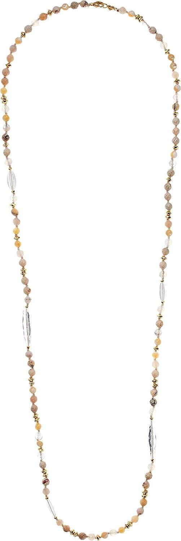 Chan Luu Womens Multi Brioche Agate Layering Necklace