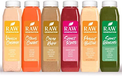 7-Day Protein Cleanse by Raw Generation® – High Protein Juice Cleanse with Dairy and Soy-Free Protein Smoothies/Lose Weight Quickly While Energizing Your Workouts/Jumpstart a Healthier Diet