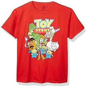 Toy Story Boys Character Group Short Sleeve T-Shirt-Disney