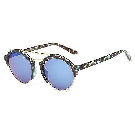 QHGstore Unisex pagina mezza montatura spessa Esterni Sport Eyewear PC classico telaio delle donne degli uomini degli occhiali da sole Tawny modello + Verde rel2u