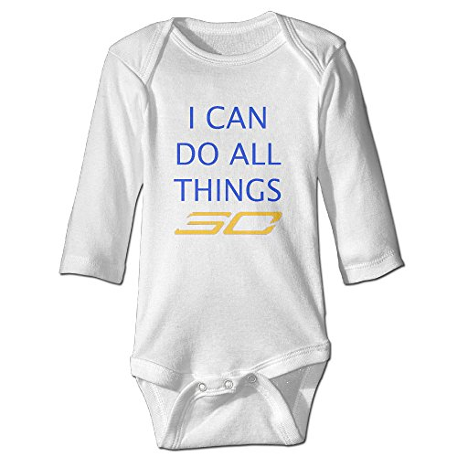 [Raymond I Can Do All Things Long Sleeve Bodysuit Outfits White 6 M] (Pi Day Costume Ideas)