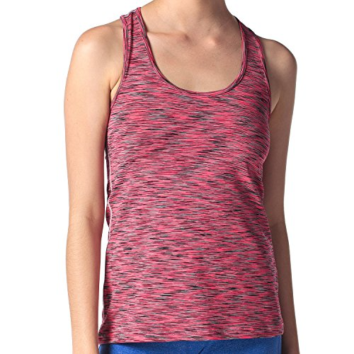 LAPASA Camiseta Deportiva para Mujer sin Mangas (Tank Top, Camiseta de Tirantes). Hypnotic Pink (Rosa Multitono)