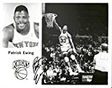 Patrick Ewing Signed Autographed Glossy 8x10 Photo (New York Knicks) - COA Matching Holograms