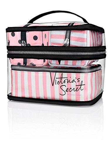 Victoria's Secret Train Case Cosmetic Makeup Bags 4 piece Travel Case