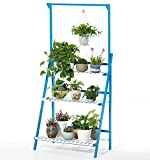 Bamboo 3-Tier Hanging Plant Stand Planter Shelves Flower Pot Organizer Storage Rack Folding Display Shelving Plants Shelf Unit Holder For Sale
