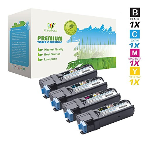 AZ Supplies © Compatible Replacement Toner Cartridges for Dell 2130/2135 Black, Cyan, Yellow, Magenta (330-1436, 330-1437, 330-1438, 330-1433) for use in Dell 2130cn, 2130, 2135cn, 2135 Series Printers. Black 2,500; Colors 2,500 pages yield.