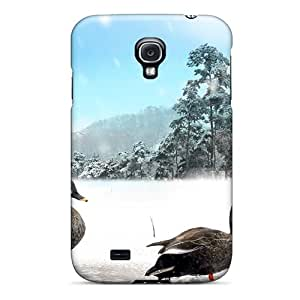 High Quality Joseph Lee Ducks On Ice Skin Case Cover Specially Designed For Galaxy - S4