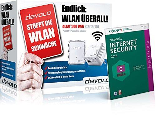 devolo dLAN 500 WiFi Starter Kit + Kaspersky Inter