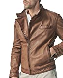 Massimo Dutti Men's Biker-style embossed nappa jacket 3309/069 (Large) offers