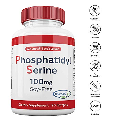 Phosphatidylserine Soy-Free 100mg, 90 Count, Patented Sharp-PS Formula, Phosphatidylserine Complex from Sunflower Lecithin, Natural Brain Booster for Memory and Focus, Soy-Free, Allergen-Free, Non-GMO by Natural BioScience (Image #6)