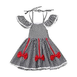 Amazon.com: Vestido de plaqueta para bebé, 1 unidad, diseño ...