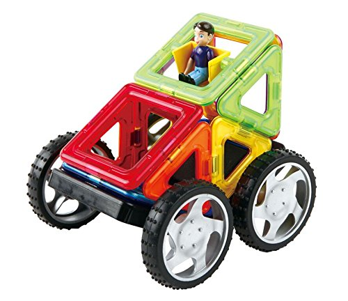 Magformers Vehicle Wow Set (16-pieces) Magnetic    Building      Blocks, Educational  Magnetic    Tiles Kit , Magnetic    Construction  STEM Toy Set includes wheels by Magformers (Image #6)