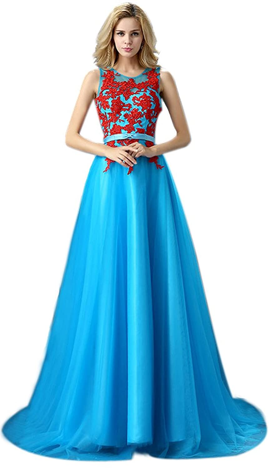 Eyekepper Sleevless Back V-Neck Prom Party Evening Dress