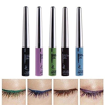 5 diversos colores componen el delineador líquido para cosplay cosmético eye liner líquido impermeable