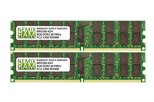 16GB (2x8GB) DDR2-667MHz PC2-5300 ECC RDIMM 2Rx4 1.8V Registered Memory for Server/Workstation