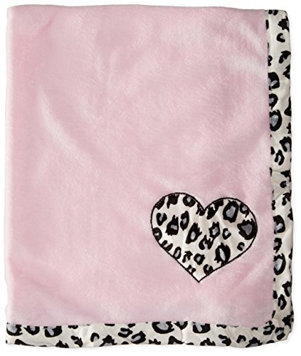 BON BEBE Baby-Girls Newborn Animal Print Plush Coral Fleece Blanket, Multi, New Born by Bon Bebe