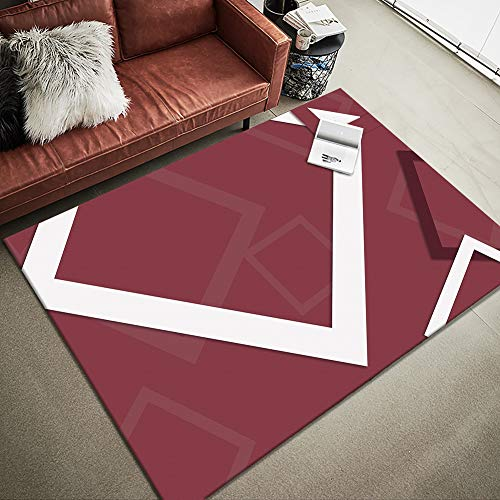 - YAMTION Rug for Living Room, 4'x 6 Modern Multi-Function Area Rugs Collection, Non Slip Geometric Red Soft Shaggy Carpet, Indoor Bedroom Rugs Nursery, Dining Room, Office, Dormitory