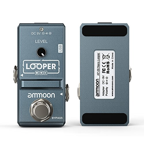 ammoon AP-09 Nano Loop Electric Guitar Effect Pedal Looper True Bypass Unlimited Overdubs 10 Minutes Recording with USB Cable by ammoon (Image #3)
