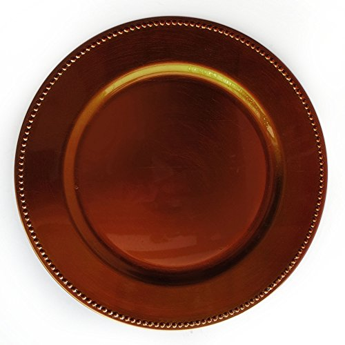 ChargeIt by Jay Beaded Round Charger Plate, Copper ()