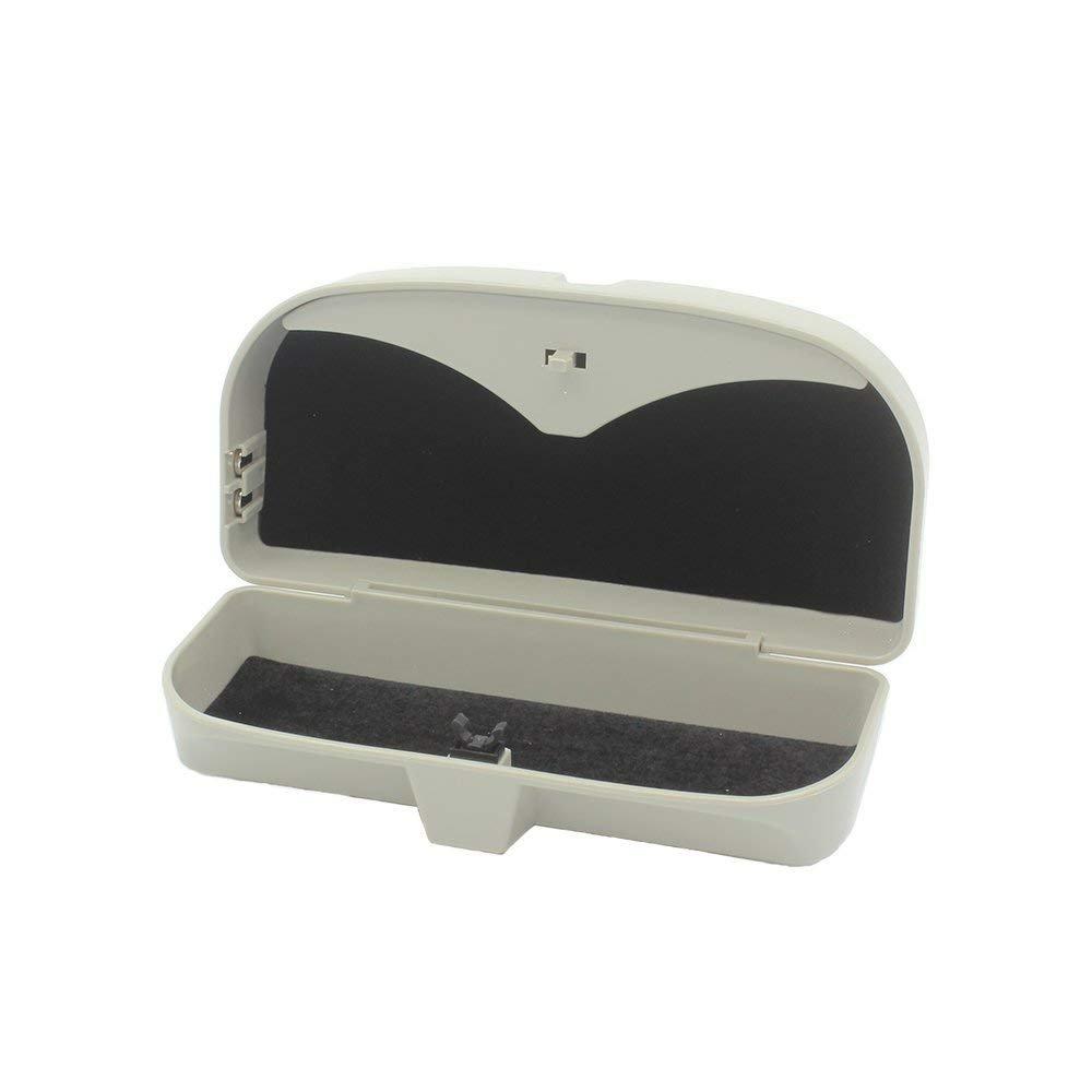FireAngels auto parasole occhiali box, occhiali da sole Universal car holder case Storage box Eye, con carta per parasole
