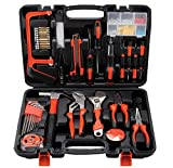 Zoostliss Home Repair Tool Kit, General Household Tool Kit for Home Maintenance with Plastic Toolbox Storage Case
