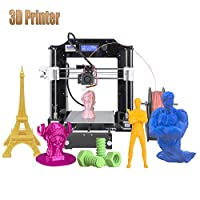 ALUNAR Upgraded DIY Desktop 3D Printer Reprap Prusa i3 Kit, High Accuracy Self-Assembly Tridimensional FDM Printer, Multicolor Printing Machine