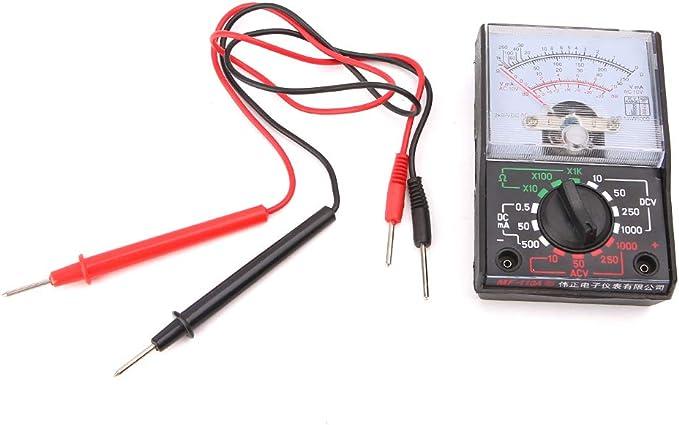 Qintaiourty Multimeters DC//AC 1000V Voltmeter 250mA Ammeter 1K Resistance Meter Analog Multimeter Tool