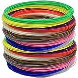 VILONG 20pcs ABS 3D Print Filament 1.75mm 10M Random Color For 3D Printer or Pen