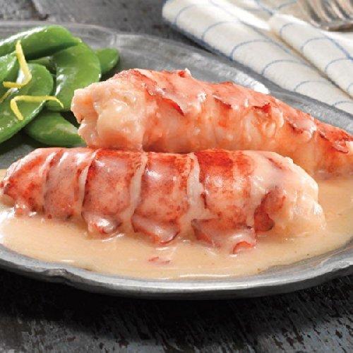 Cooked Lobster Tail (Lobster Gram SVLOB4 Butter Poached Lobster Tails - 4)