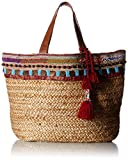 'ale by alessandra Women's Marrakesh Tribal Hemp Braid Tote With Beading, Multi, One Size