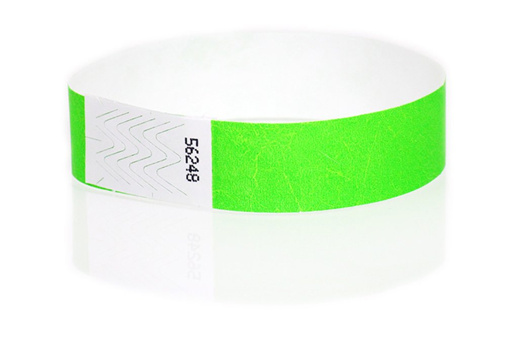 Wristband Giant 3/4 Tyvek Wristbands 500 box Event Identification Bands (Neon Sunfire)