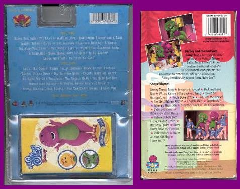 Amazoncom SINGING BARNEY PACK Audio Cassette I Love To Sing - Barney concert vhs